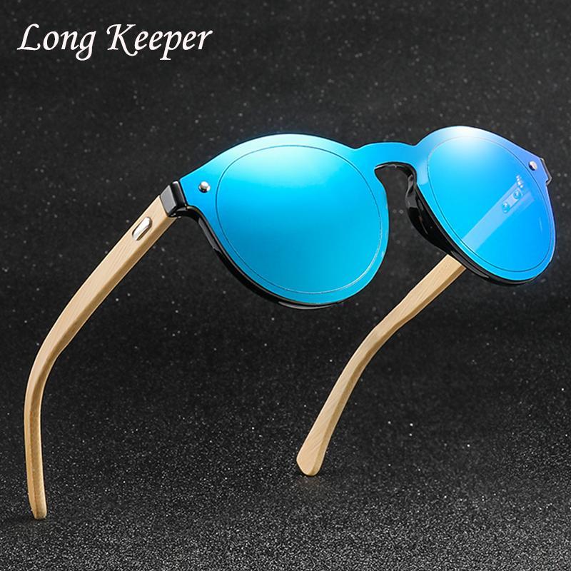 187432e8238bd Compre Óculos De Sol De Madeira Das Mulheres Designer De Moda Marca Uv400  Espelho Lentes De Bambu Rodada Óculos Para Homens 2018 Nova Chegada Gafas  De Sol ...
