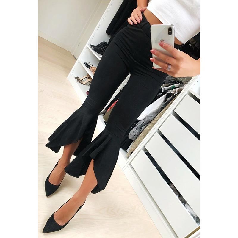 233a374e2d9 2019 Women S Pants Black White Fashion Skinny Pencil Trousers 2018 Summer  Spring Wide Legs Female Casual Flare Pants WS9391Y From Fafachai03