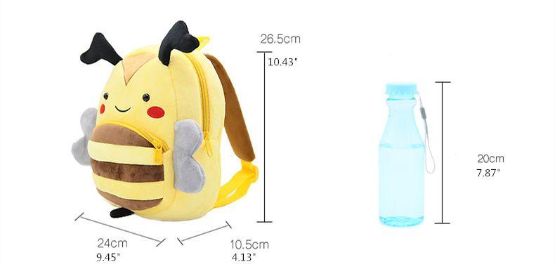 Zoo series cute children's school bag burden shoulder bag plush backpack kindergarten teaching package