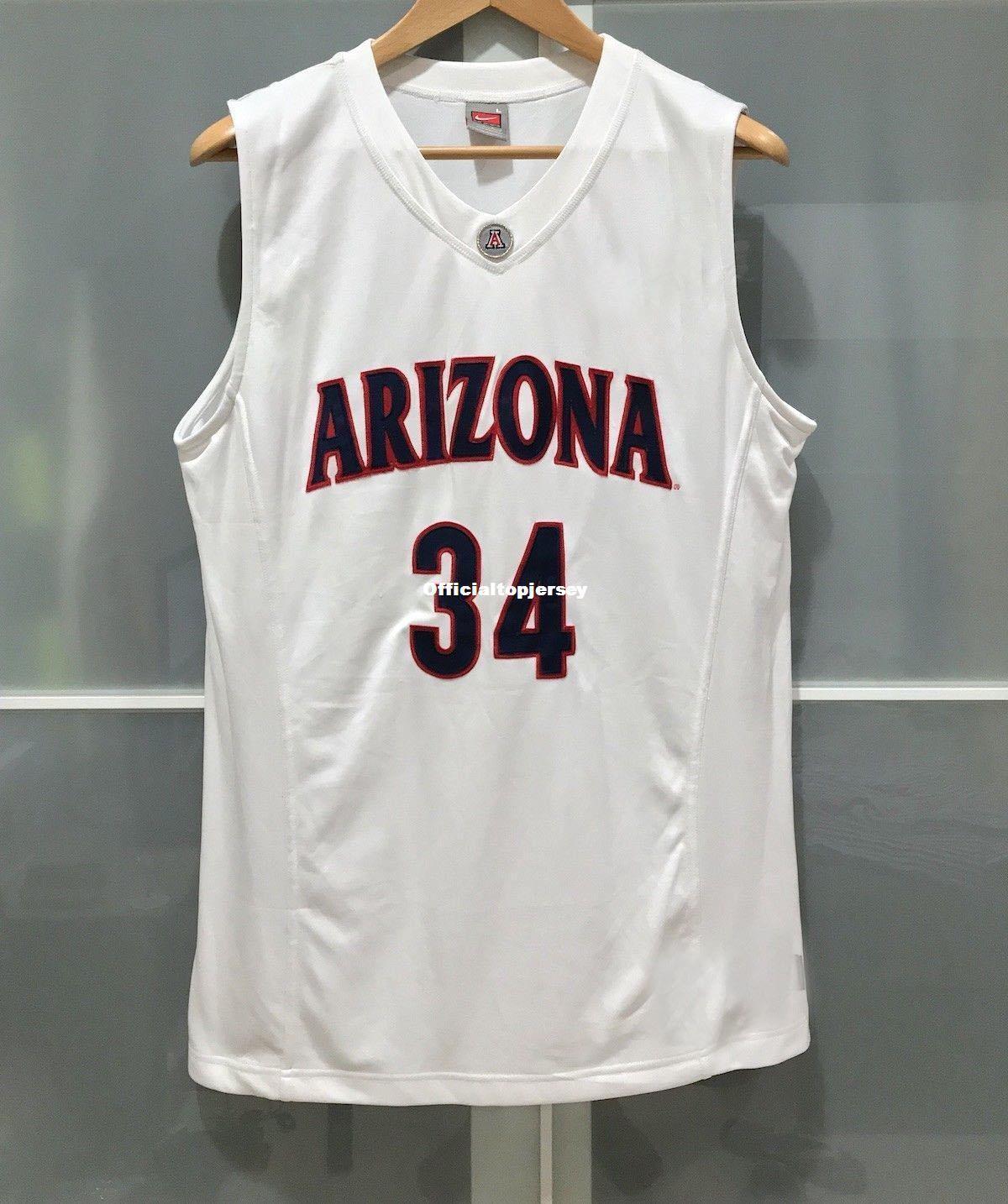 Cheap Wholesale Retro ARIZONA WILDCATS  34 MENS BASKETBALL GAME JERSEY WHITE  T-shirt Vest Stitched Basketball Jerseys Cheap WILDCATS Jersey ARIZONA  Jerseys ... f7c29091a