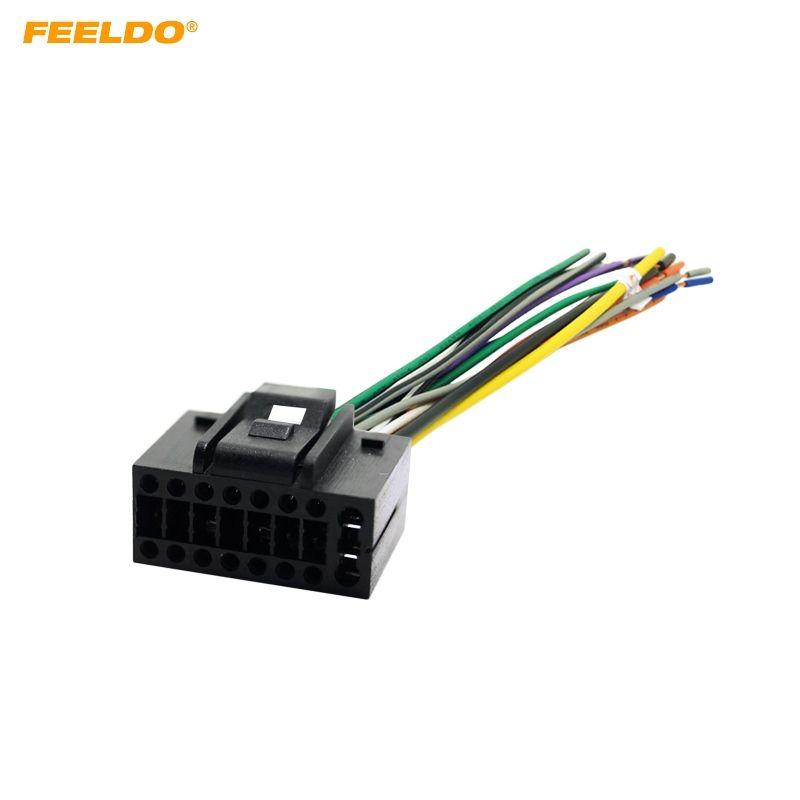 2018 feeldo car radio stereo wire harness plug cable 16 pin male rh dhgate com stereo wire harness 2009 range rover stereo wire harness 1998 honda civic