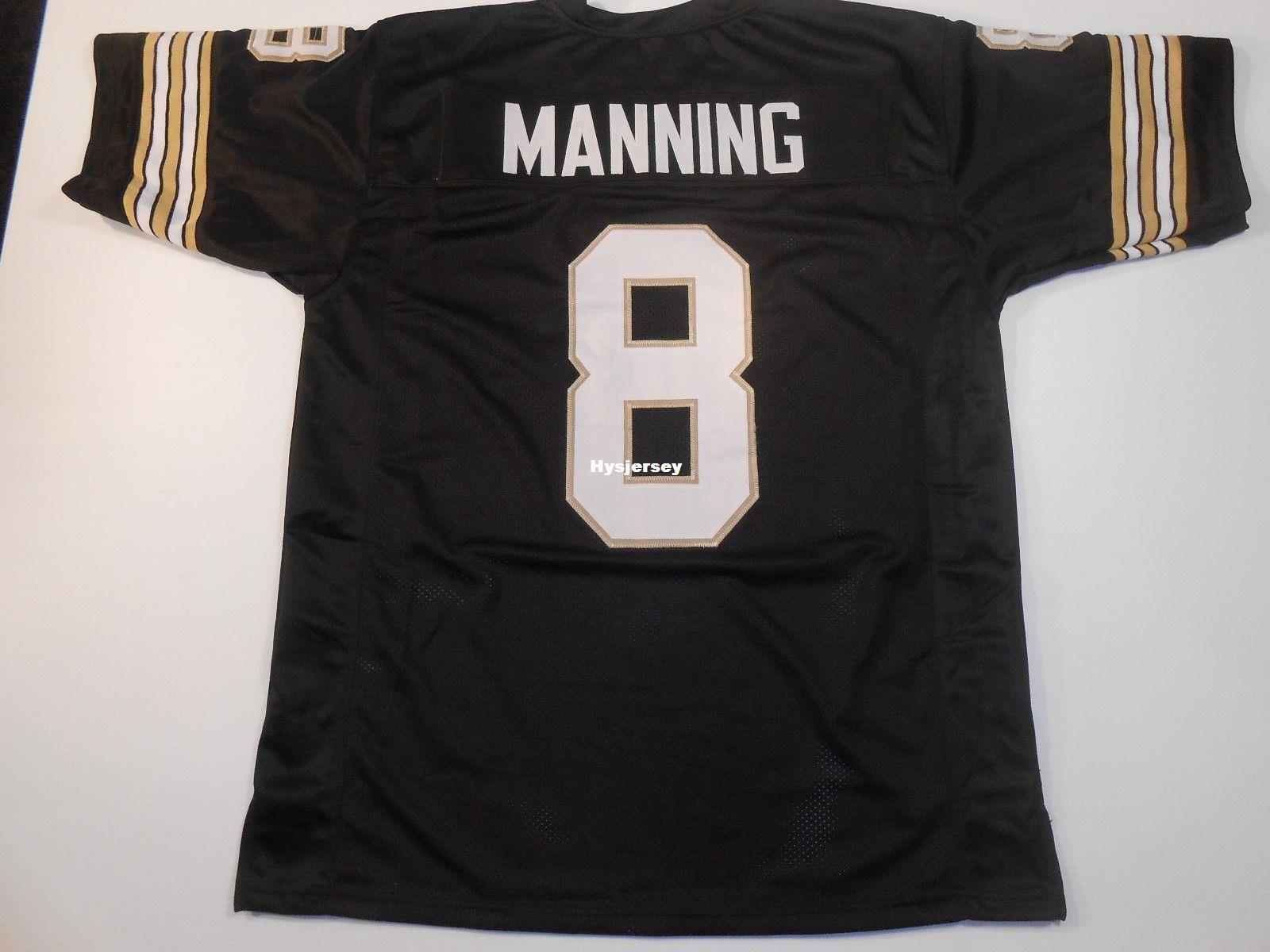 Cheap Retro Custom Sewn Stitched Archie Manning Black MITCHELL   NESS Jersey  High-end Men s Football Jerseys American Football Jersey Cheap Football  Jersey ... d4ab76e3b