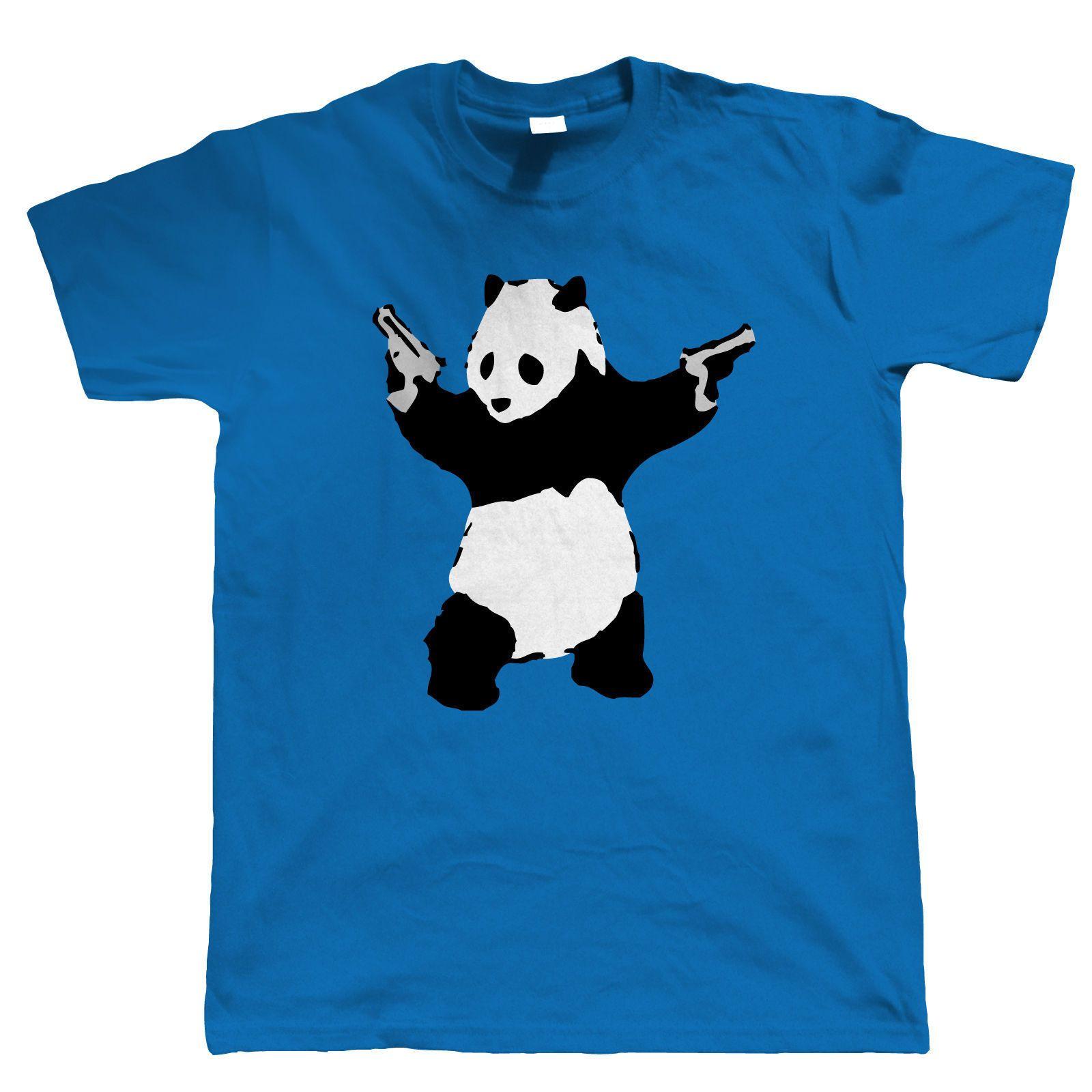 1aae9ddf Banksy, Panda With Guns, Mens Urban Art T Shirt Stock Clearance Mens 2018  Fashion Brand T Shirt O Neck T Shirts Buy Shirt T From Temperamenttee, ...