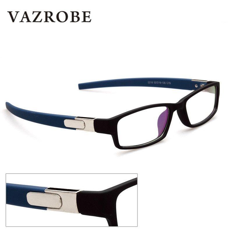 Compre Vazrobe Estilo Esportes Dos Homens Óculos Mulheres Barato Óculos  Frames Nerd Nerd Óculos Para Prescrição Miopia Grau Vista Homem De  Beasy110, ... 0f36b2c777