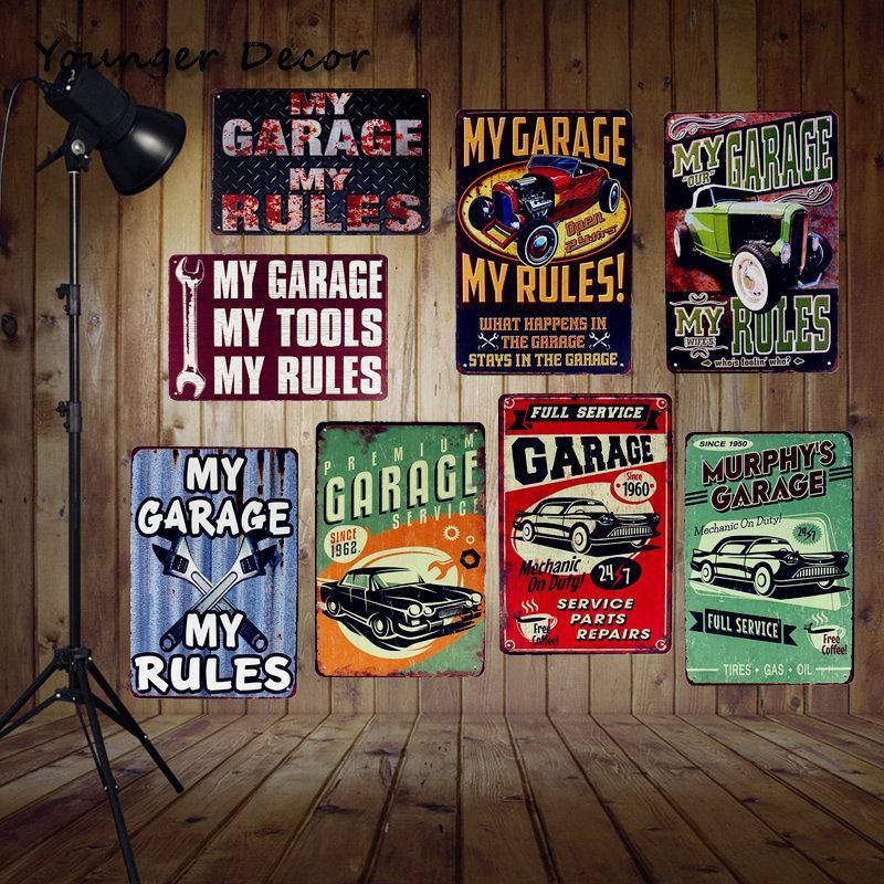 Compre Mi Garaje Mis Herramientas Reglas Vintage Home Decoración De