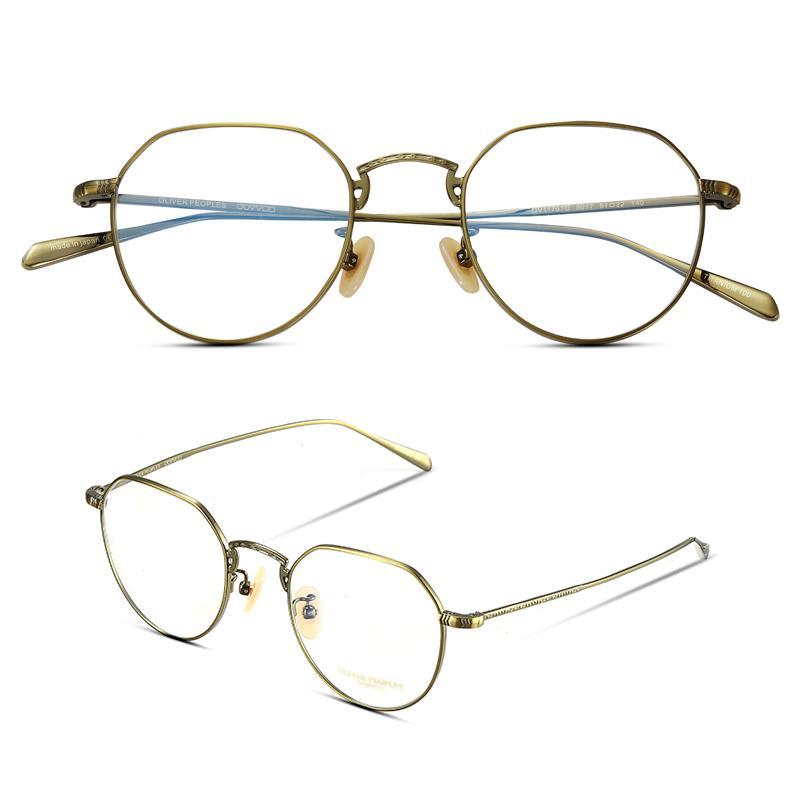 e8d354bafa 2019 Vintage Polygo Pure Titanium Frame High Quality Ultra Thin Vintage Optical  Frame Eyeglasses Oliver OV1176 Prescription From Poety