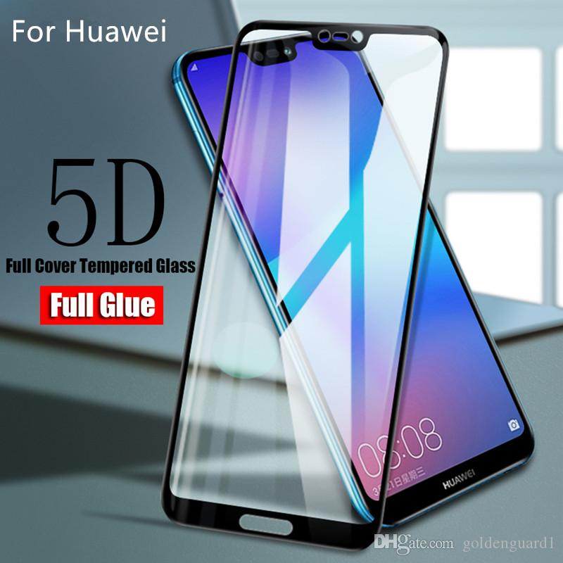 100% authentic cc85f fafd3 For Huawei Honor 9N 9i 2018 8 9 Lite V9 Play 9X Honor Play Tempered Glass  Full Glue Full Cover Screen Protector For HW Huawei Temper Glass
