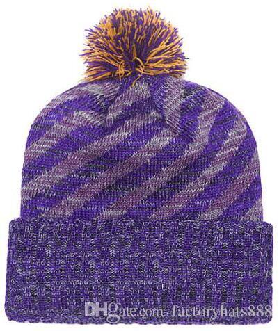 fc8b9508 2019 Autumn Winter hat men women Sports Hats Custom Knitted Cap Sideline  Cold Weather Knit hat Soft Warm Vikings Beanie Skull Cap