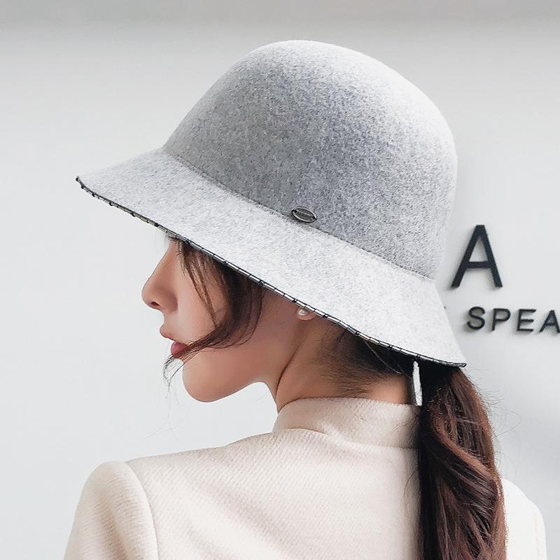 4c635b9c193ad Ju-2018060038 100% Wool Soft Winter Wool LADY Cap Women Leisure ...