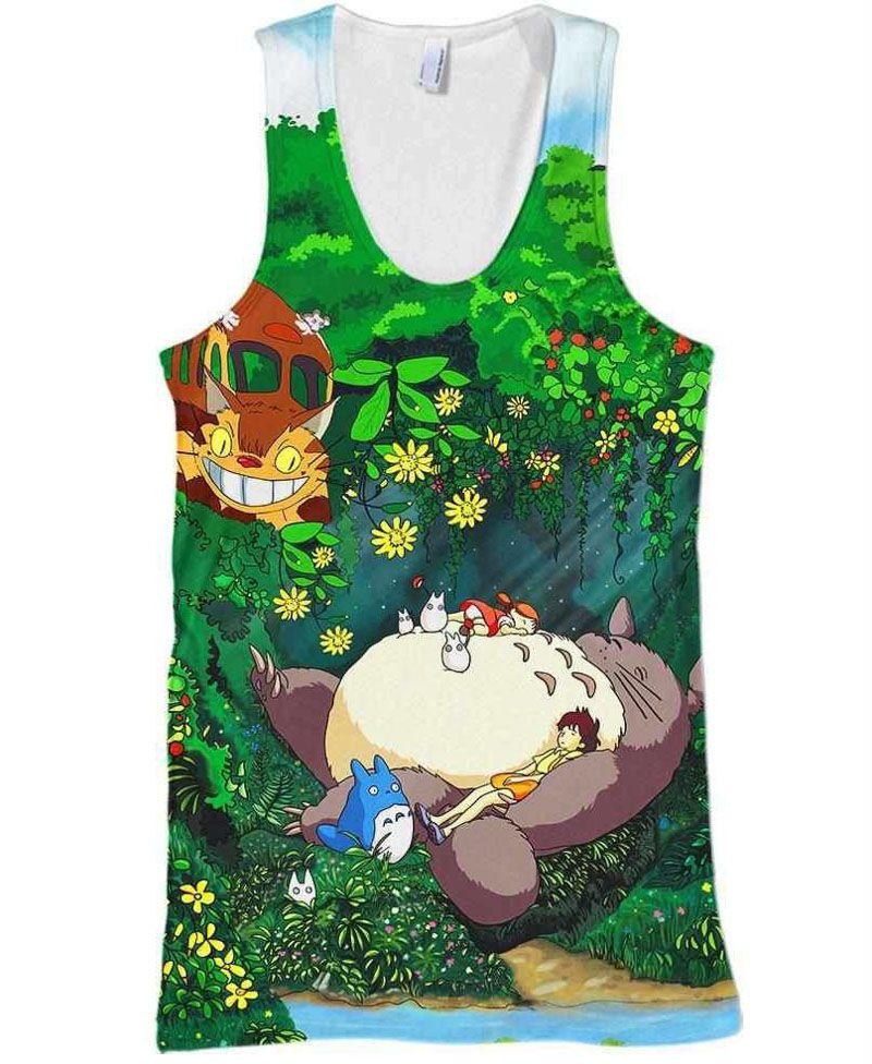 8d7ce8193e2431 Tank Top Men 3d Vest Anime Tanks Top Spirited Away Vests AChihiro Ogino  Sleeveless Tee Haku No Face Printing Camis S 5XL T Shirts Awesome Funny  Printed ...
