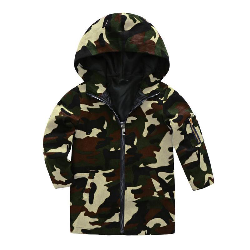d8cc4f80182c Spring Children Camo Print Hooded Jackets Baby Long Sleeve Casual Zipper  Windproof Coat Outerwear Clothes Jacket For Boy Winter Jacket Boys From  Gaozang