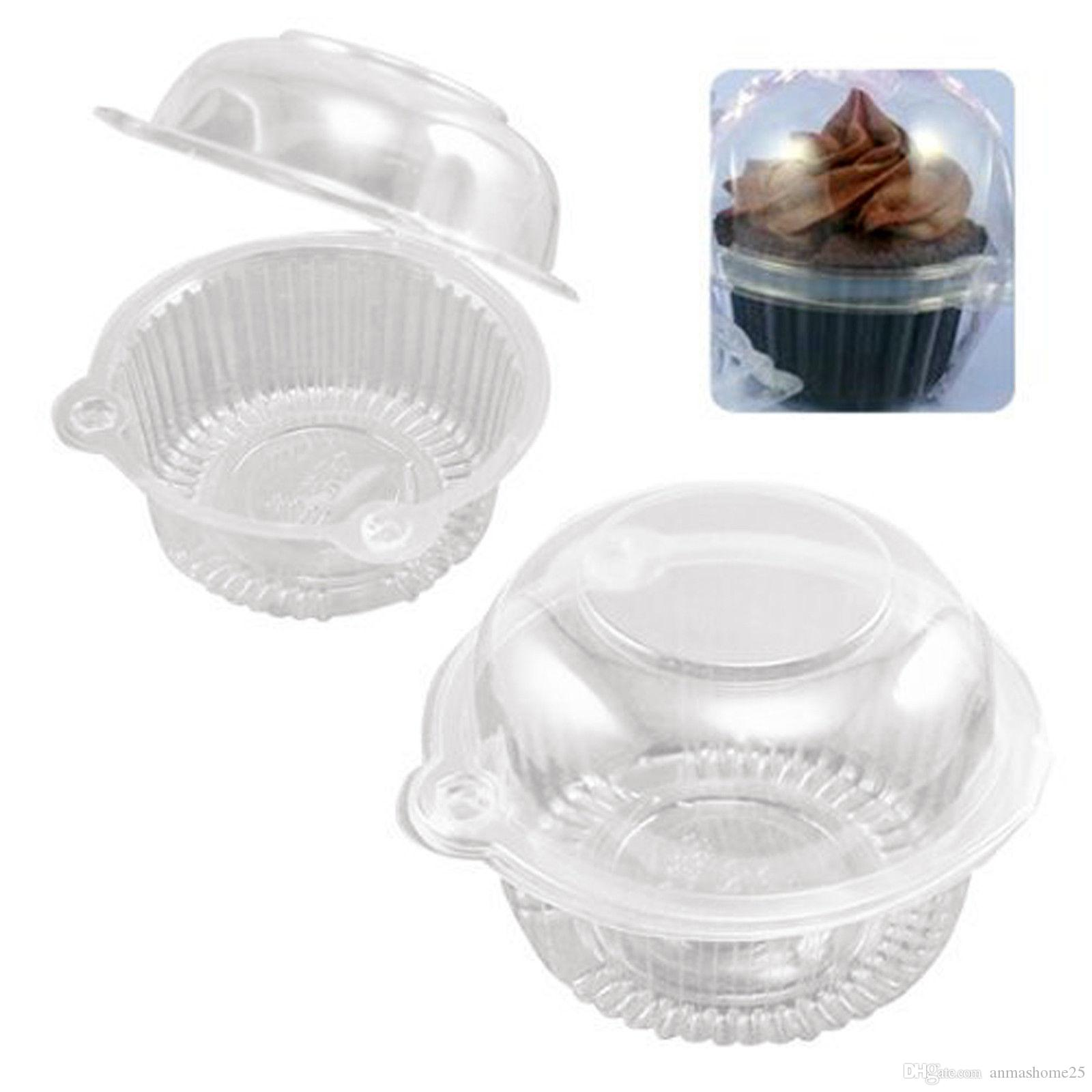 Hot Sale Owl Clear Plastic Cupcake Container Muffin Pod Dome