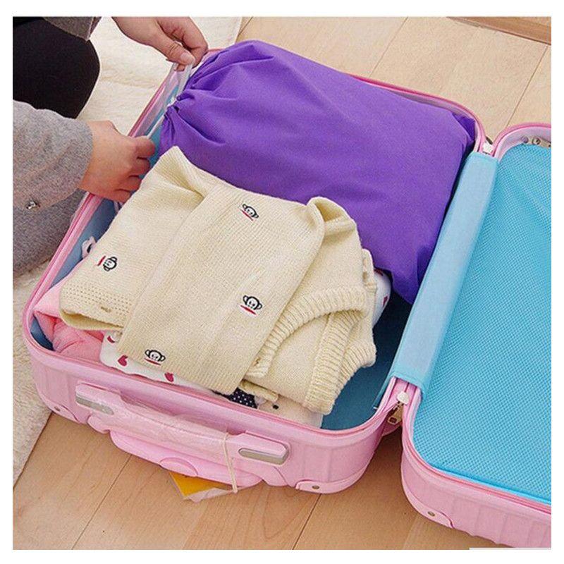 3 Size Shoes Bag Pouch Storage Travel Bag Portable Tote Drawstring Bag Organizer Cover Non-Woven Laundry Organizador