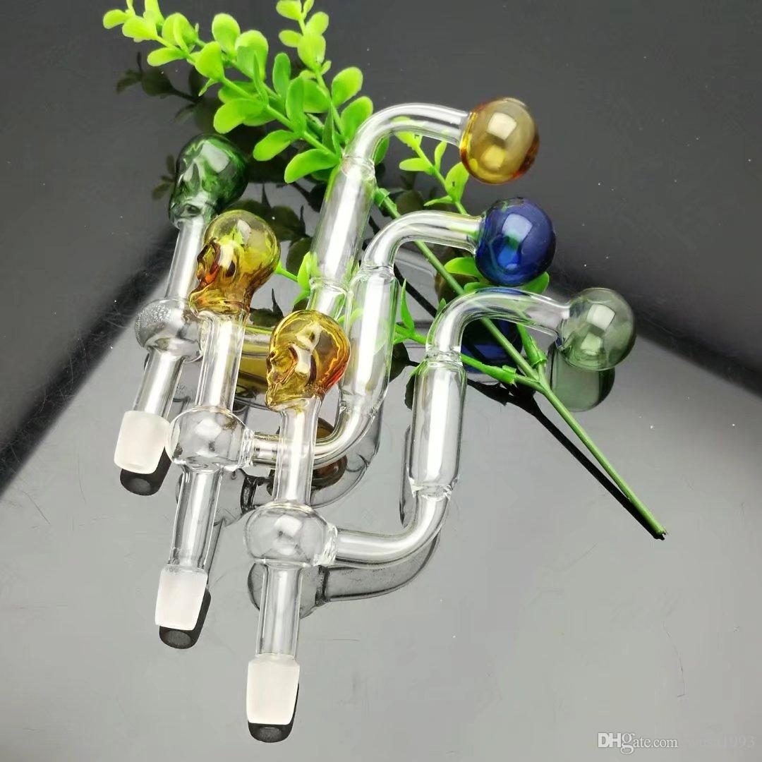 Small skull filtration pot luck, color random delivery, wholesale glass hookah accessories, bong accessories, large better