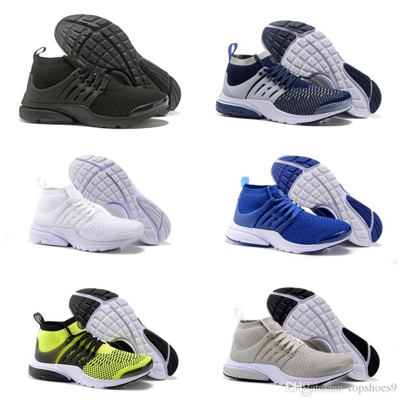 2019 new arrival PRESTO BR QS Breathe Black White Mens Basketball Shoes Sneakers Running Shoes For Men Sports Shoe Walking Free Shipping