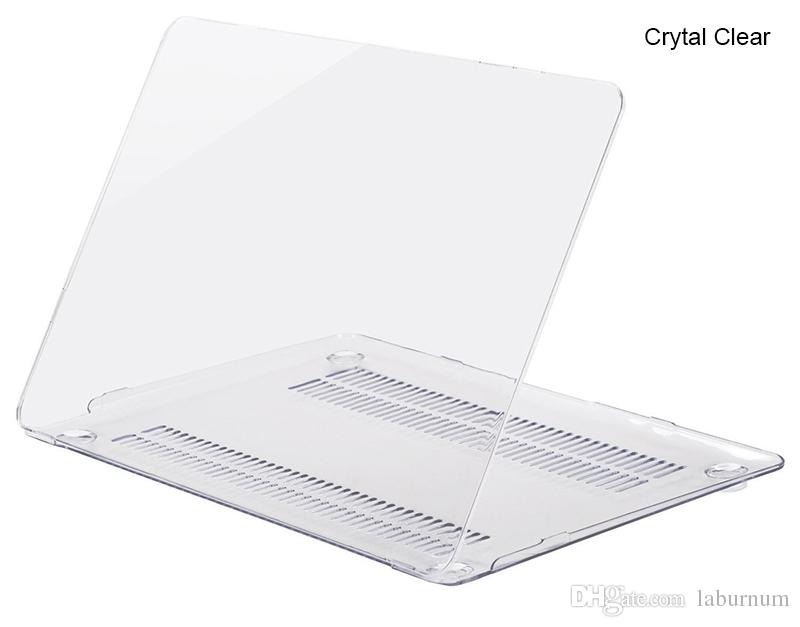 New PC Crystal Clear case cover for Apple Macbook Air Pro Retina 11.6 12 13.3 15.4 inch Touch Bar laptop Cases For Macbook bag