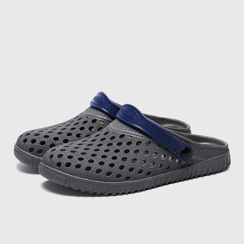 de763ba1d Spring Summer Men Super Light Garden Mule Clogs Slippers Sandals Men's  Beach Slipper Waterproof 40-44