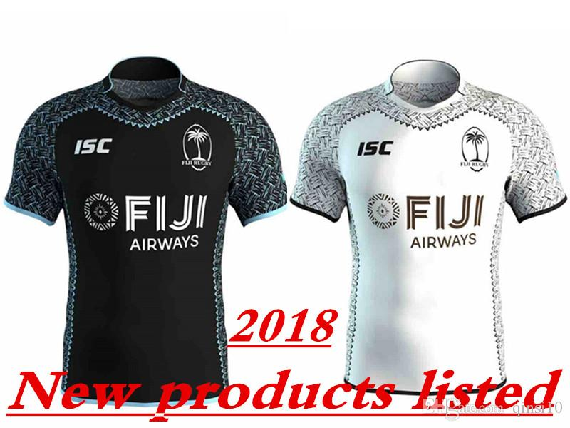 c6b318814fe Hot Sales 2018 New FIJI Home Away Rugby Jerseys NRL National Rugby ...
