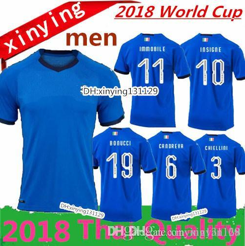 255072b174f 2019 New 2018 ITALY WORLD CUP Home Soccer Jersey Away 18 19 ITALY CANDREVA  CHIELLINI EL SHAARAWY BONUCCI INSIGNE BERNARDESCHI FOOTBALL SHIRTS From  Xinyan168 ...