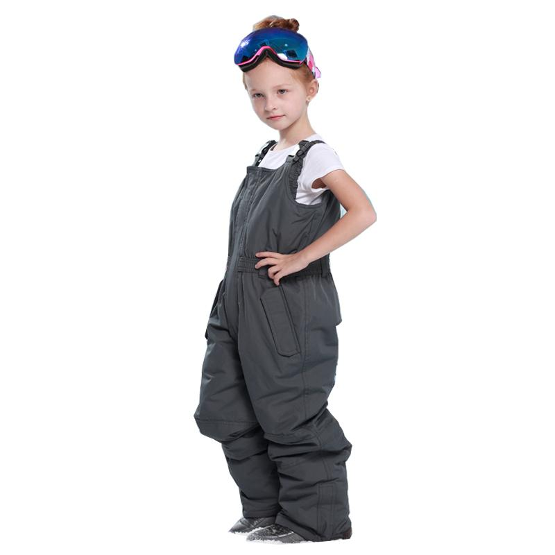 2019 Black Winter Girls Romper Ski Pants Windproof Overall Pants Tracksuits  For Children Waterproof Warm Kids Boys Snow Ski Trousers From Pineappleg 6eb2d76c1