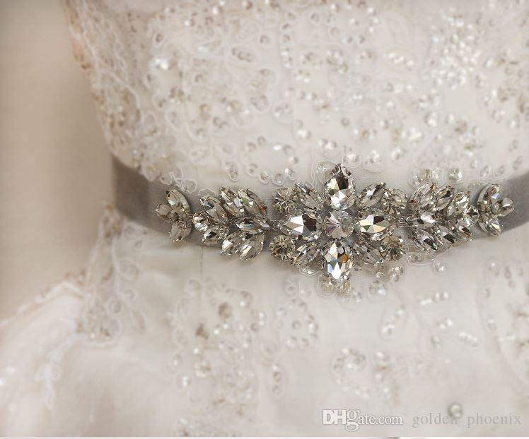 New Korean bride elegant wedding bride rhinestone belt wedding dress accessories