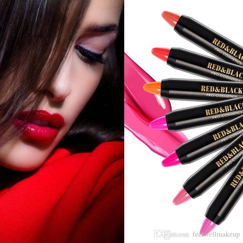 RedBlack es lápiz labial encantador cosmético para maquillaje de chicas crema hidratante de larga duración lápiz labial belleza maquillaje de rubor de ojos