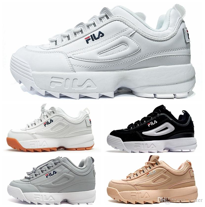 2018 Disruptors II 2 X Raf Simons Mens Women Thick Soles White Sneaker Big  Sawtooth Ladies Thick Bottom Height Increased Running Shoes Top Running  Shoes ... d91802858e2f