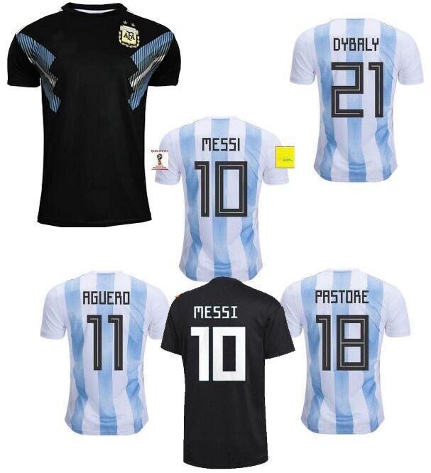 Thai Quallity Camisetas De Futbol World Cup Patch 2018 Away Black Argentina  Maradona Messi Dybala Football Soccer Jerseys Argentine Shirts UK 2019 From  ... 727210e13341
