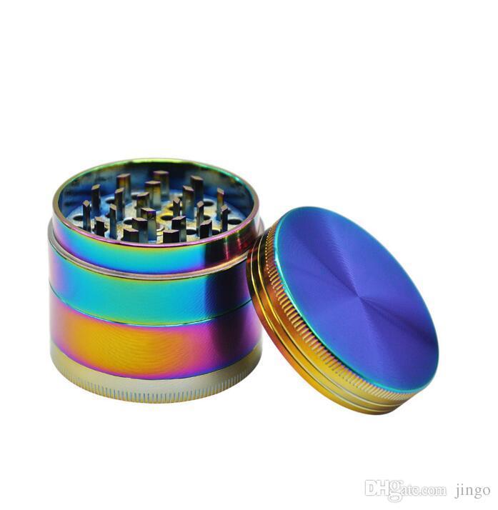 Rainbow Grinder 4 Parts Grinder Zinc Alloy Cheap Tobacco Herb Grinders Smoking Crusher Grinder Smoking Accessories