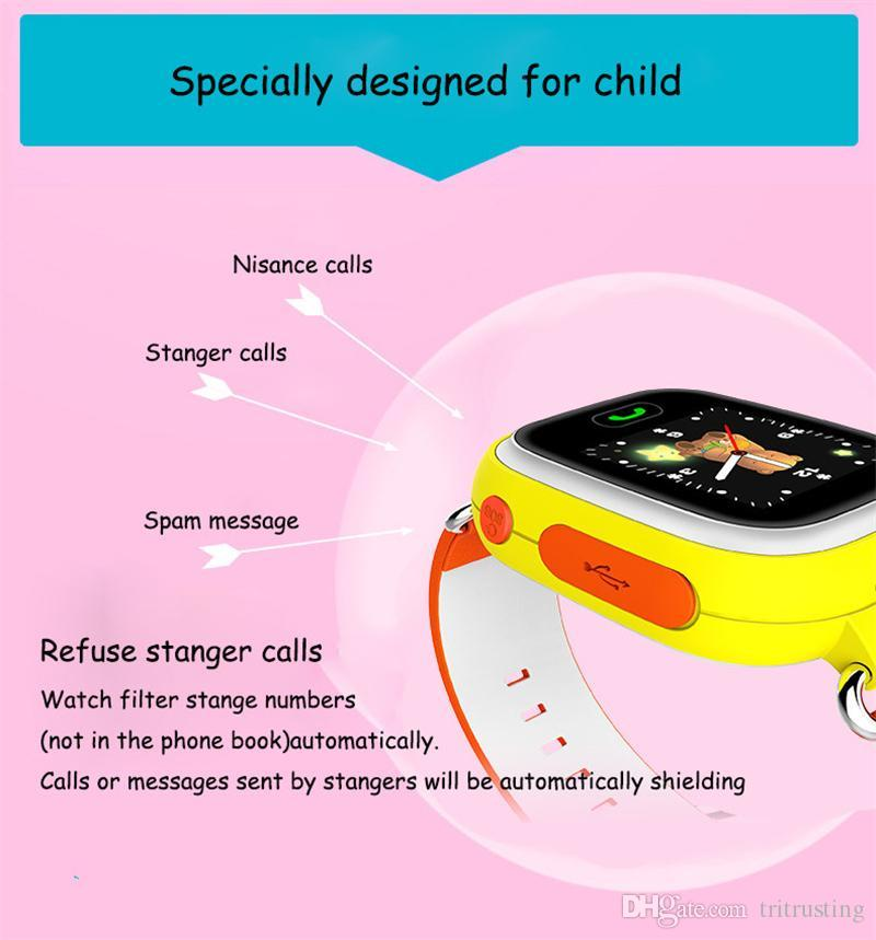 Q90 Kids Bluetooth Smartwatch Q 90 Smart Watch For Child IPhone Android Smart Phone with GPS Tracker WiFi LBS Wearable Device MQ20