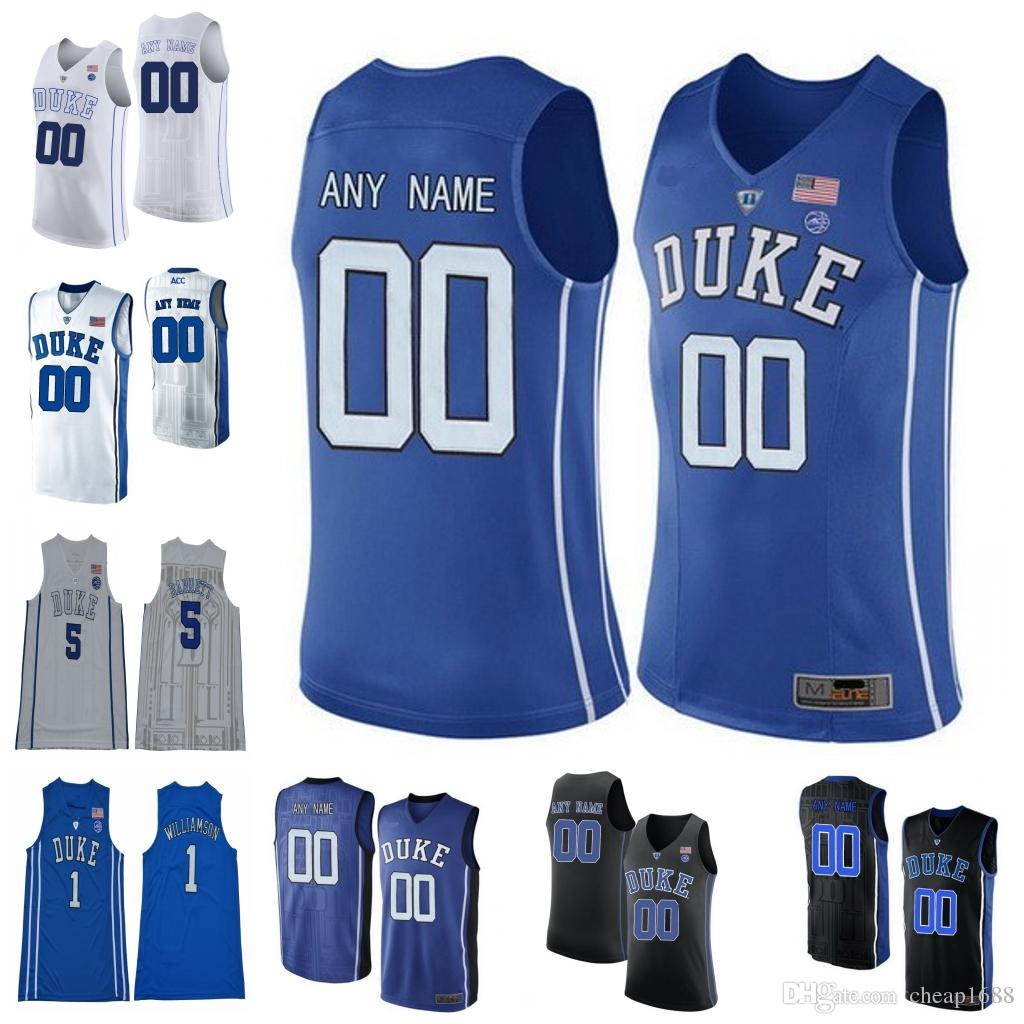 9e9121fb0 ... new arrivals 2018 custom duke blue devils college basketball stitched  any name number 1 zion williamson