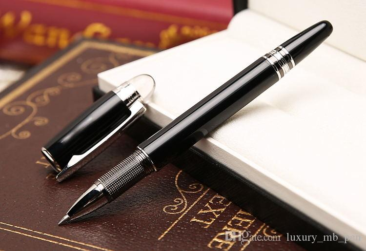 Send 1 Free Leather Bag - High quality Star-waikers Black Metal Rollerball pen Ballpoint pen Fountain pens with Monte Brands Serial Number