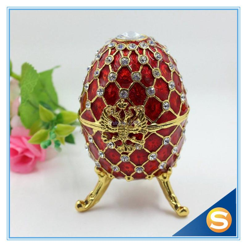 2018 wholesale fashion easter metal crafts gifts faberge egg 2018 wholesale fashion easter metal crafts gifts faberge egg trinket box egg shaped jewelry box for women from sophine09 3139 dhgate negle Image collections