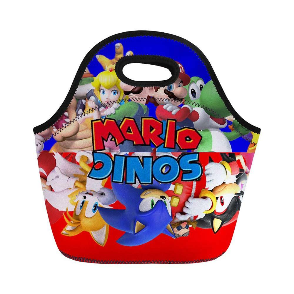 3d Sonic Super Mario Bros Cartoon Gedruckt Frauen Mittagessen Tasche Polyester Picknick Tote Männer Isolierte Büro Warme Mahlzeit Taschen Mittagessen Tasche Funktionale Taschen Gepäck & Taschen