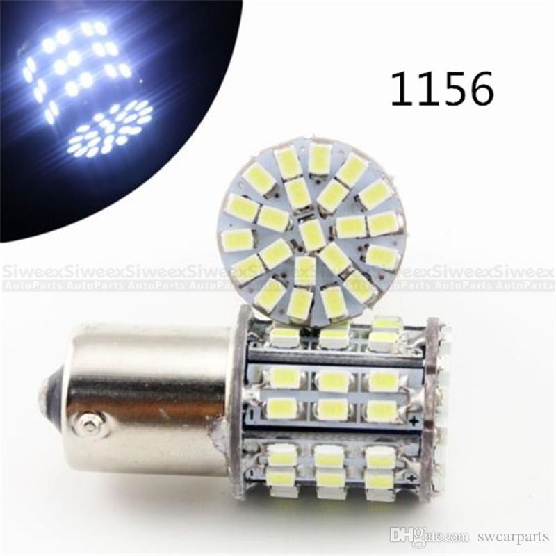 Süper Parlak 64 SMD ARABA LED beyaz BA15S 1156 BAY15D 1157 1206 12 V Kuyruk Ampul Dönüş Sinyali Lambası Dur Fren Yan Işaretleyici Işık