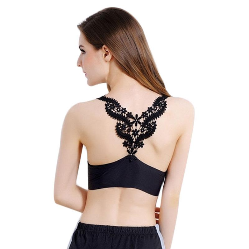 6ca489f9ce 2019 Womens Seamless Tank Top Sexy Lace Crop Tops Crochet Back Hollow Out  Woman Vest Camisole Lace Black  White Vest Beach From Yzlwatchfine