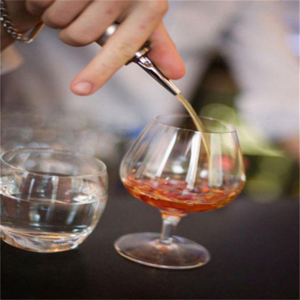 Paslanmaz Çelik Likör Ruh Pourer Akış Şarap Şişesi Bacalı Stoper Dökün Barware Noel Partisi kaynağı 100 adet / grup