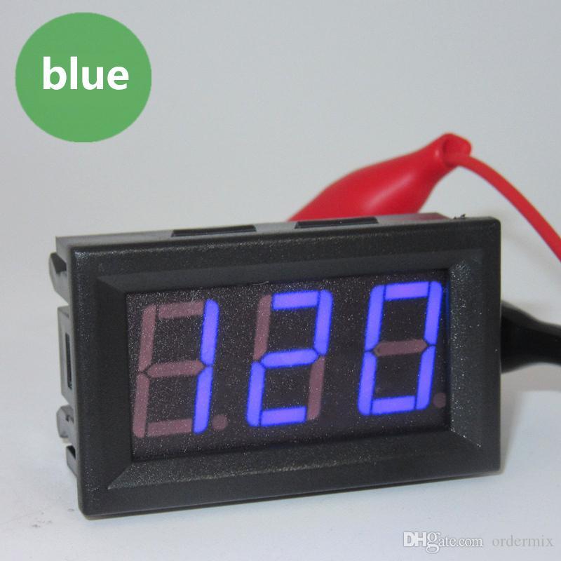 1 قطعة صغيرة السيارات السيارات السيارات الصمام الرقمية الفولتميتر مقياس ac 70-500V 0.56 بوصة لوحة أمبير فولت الحالي متر اختبار