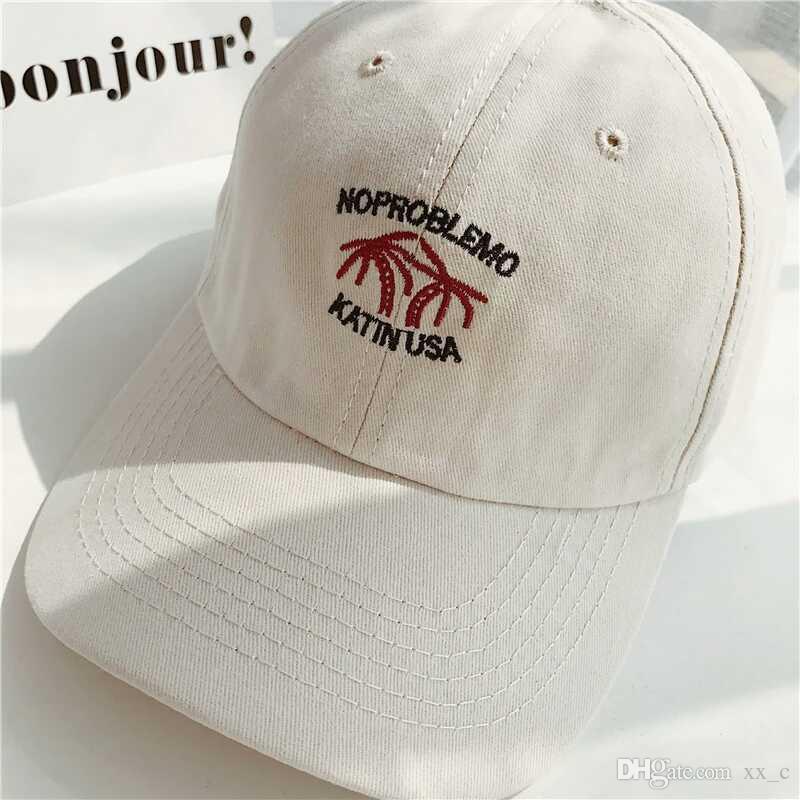 Nuevo patrón Gorra de béisbol Gorra de calle retro blanco negro rosa Caqui moda popular simple deportes gorras de pelota