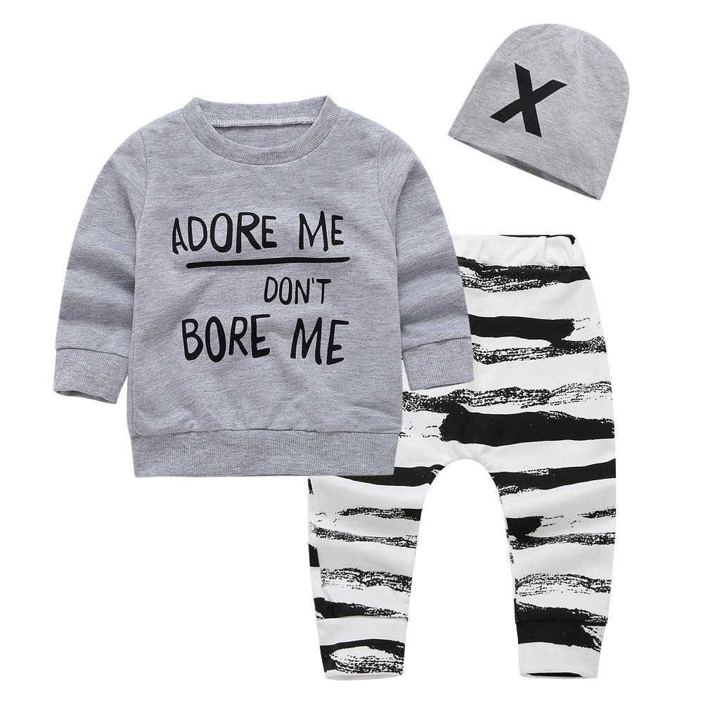 55c82ec80408 2019 2018 New Autumn Baby Boy Clothing Set Long Sleeve Letter T ...