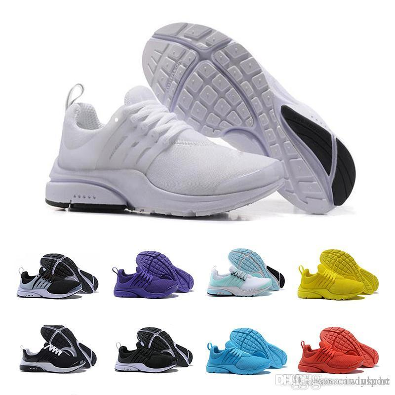 2018 nike roshe free run TOP PRESTO 5 BR QS Breathe Noir Blanc Jaune Rouge Hommes Chaussures Baskets Femmes Chaussures De Course Chaud Hommes