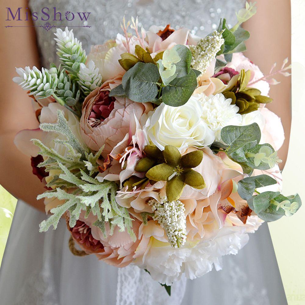 Vintage Flower Arrangements For Wedding: Boquet Casamento Pink White Red Flowers Bridal Bouquets