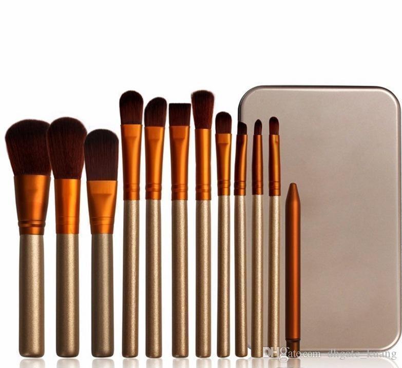 El kit facial del cepillo del maquillaje de las herramientas del cepillo del maquillaje profesional del PCS 12 con la caja al por menor