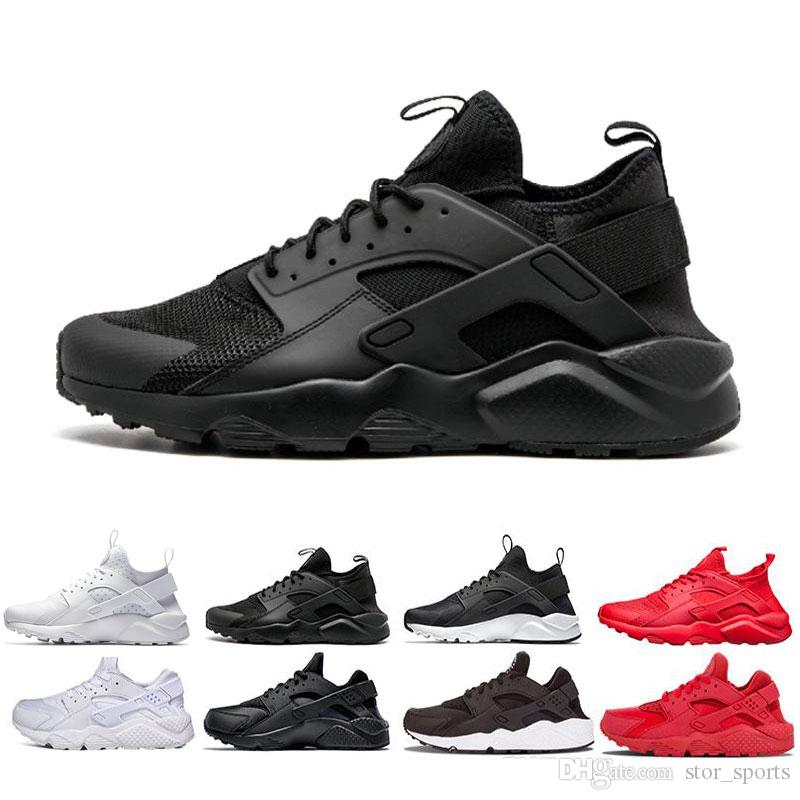 513586a1a78c7 Air Huarache 4.0 1.0 Classical Triple White Black Red Men Women Huarache  Shoes Huaraches Sports Sneakers Running Shoes Size Eur 36 45 Best Running  Shoes ...