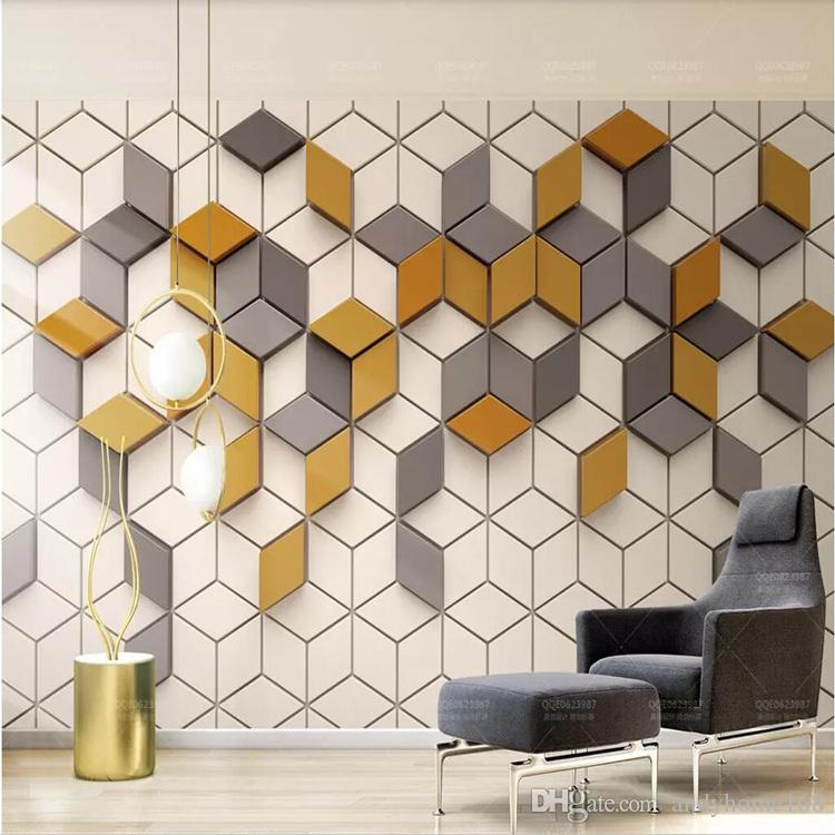 3d Simple Modern Wallpaper Nordic Geometric Square