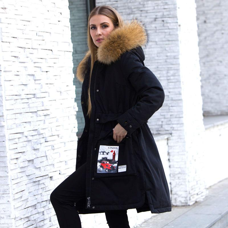 8453a158c626 2019 Big Real Raccoon Fur 2018 Winter Jacket Women Parkas For Female White Duck  Down Coat Thick Warm Hooded Women Winter Down Jacket From Zhaolinshe, ...