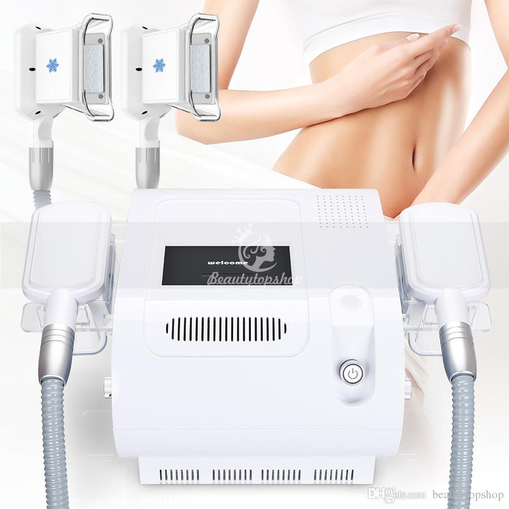 Fat Freezing Machine Waist Slimming Fat Reduction 2 Freezing Heads Can Work  At The Same Time Cold Therapy Weight Loss Salon Beauty Machine