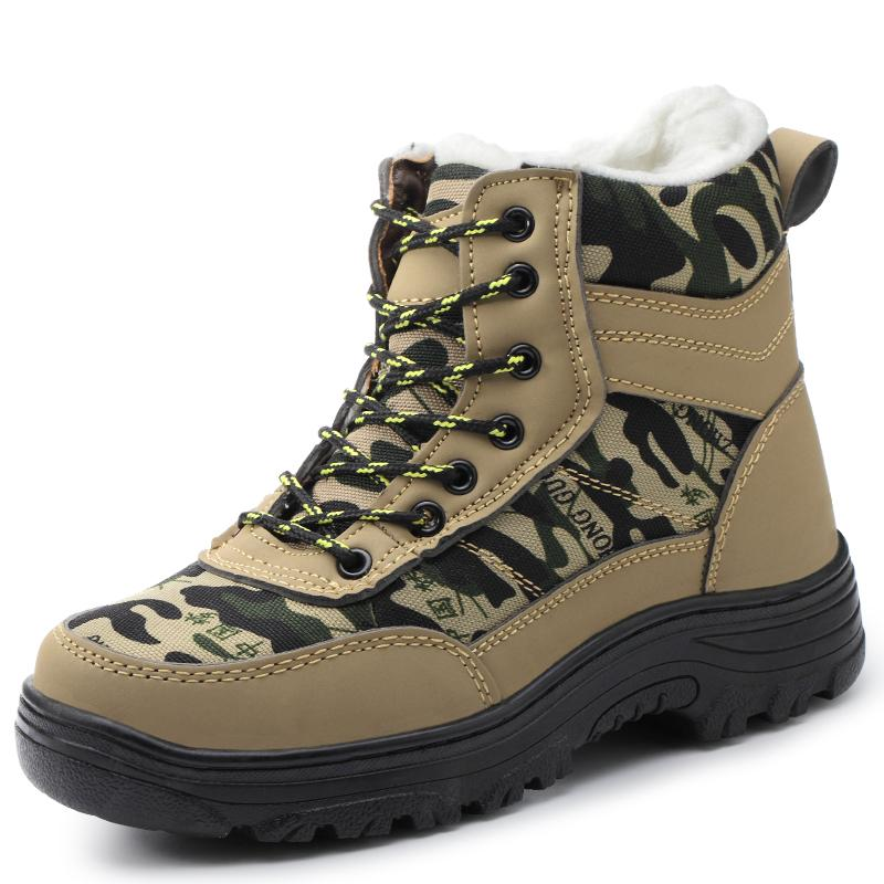 design senza tempo f96ca 78437 Scarpe da lavoro invernali alla moda da uomo alla moda con pelliccia  all'interno degli stivali di sicurezza
