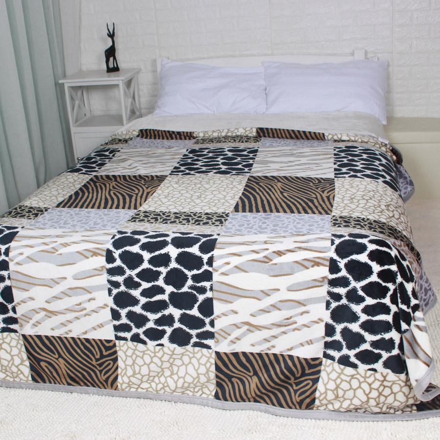 Winter Thick Big Size Flannel Bed Blankets Plaid Fuzzy Plush Bedding ...