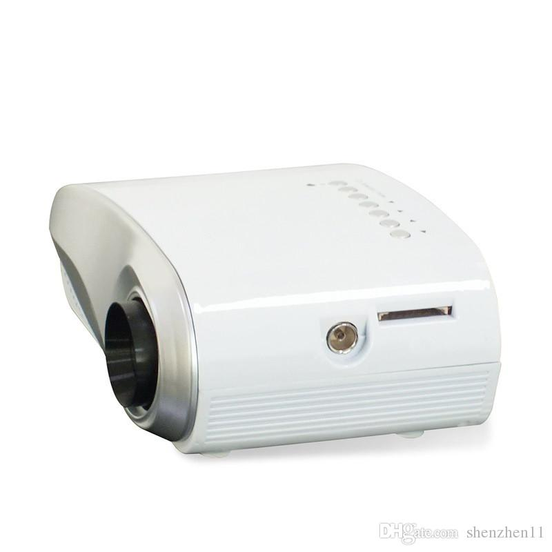 Lo más nuevo LED Mini Video portátil Pico Micro Pequeño Mini Proyector LED Mini Proyector Home Cinema Soporte AV TV VGA HDMI OTH823
